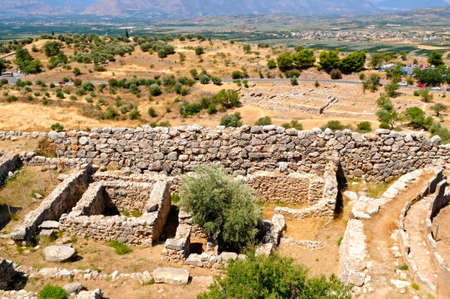 Mycenae - ancient town, Greece Stock Photo