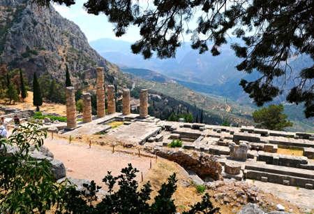 the temple of Apollo in Delphi, Greece photo