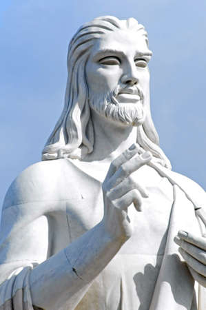 statue of Jesus Christ in Havana, Cuba photo