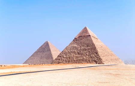 pyramids in Giza, Egypt photo