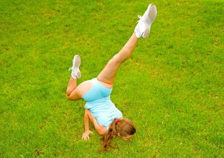 young woman doing exercises Stock Photo - 6611769