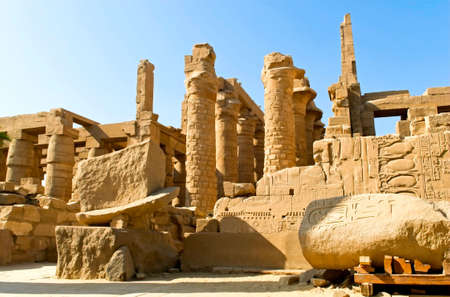 The Karnak temple complex, Luxor, Egypt 写真素材
