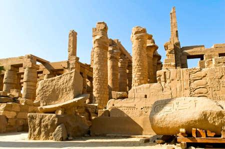 louxor: Le temple Karnak complexe, Luxor, �gypte.  Banque d'images