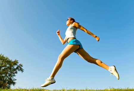running girl Stock Photo - 6753255