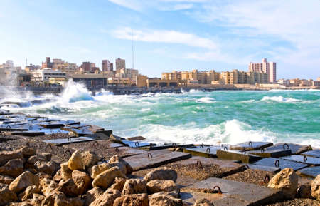 alexandria egypt: coast of Alexandria, Egypt