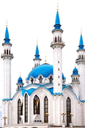 the blue domes: Kul Sharif mosque in Kazan Kremlin, Russia
