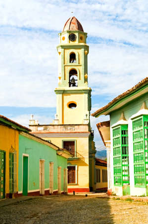 colonial street in historical center of Trinidad, Cuba photo