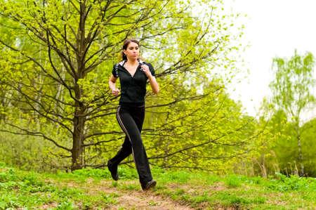 girl jogging Stock Photo - 7359911