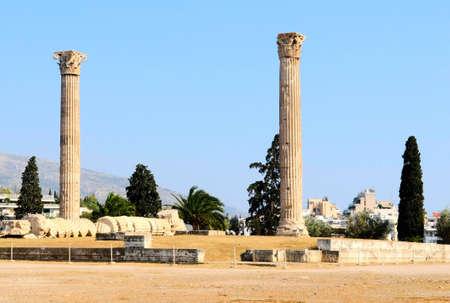 zeus: temple of Olympian Zeus Stock Photo