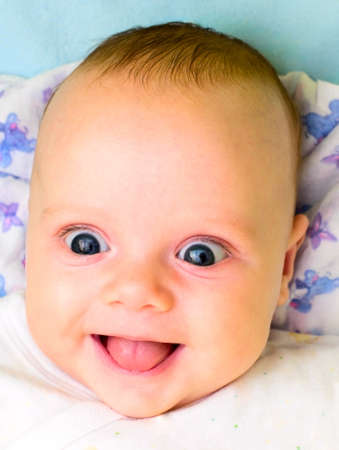 laughing baby: laughing baby Stock Photo