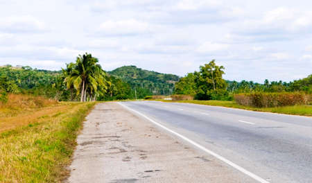 route in tropical country photo
