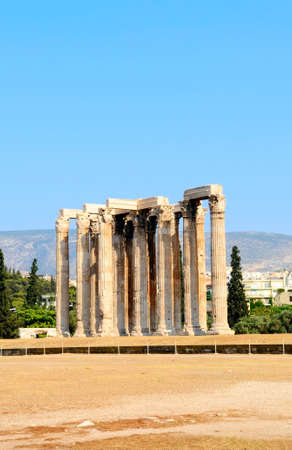 olympian: the temple of Olympian Zeus in Athens, Greece