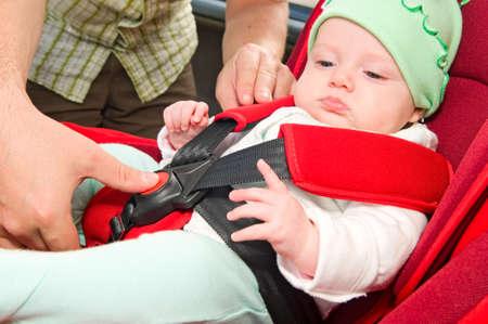 asiento coche: beb� Foto de archivo