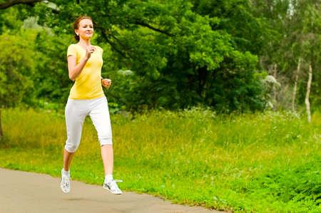 girl jogging Stock Photo - 9925633