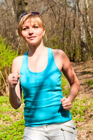 girl jogging Stock Photo - 13183775