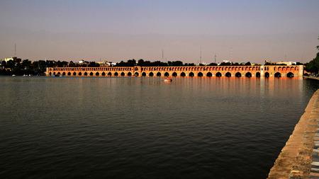esfahan: View from Siosepol Siose Bridge in Esfahan Iran