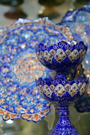 esfahan: Mina Handicraft made in Esfahan Naqshe Jahan Square Stock Photo