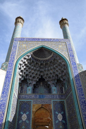 ImamShah Mosque ceiling in Naqshe Jahan Square Esfahan photo