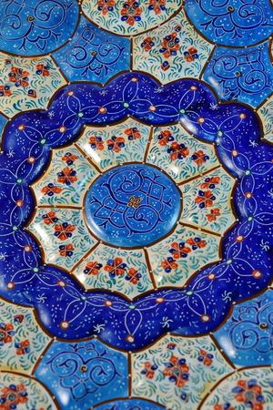esfahan: Mina Minakari Handicraft made in Esfahan Naqshe Jahan Square Iran Stock Photo