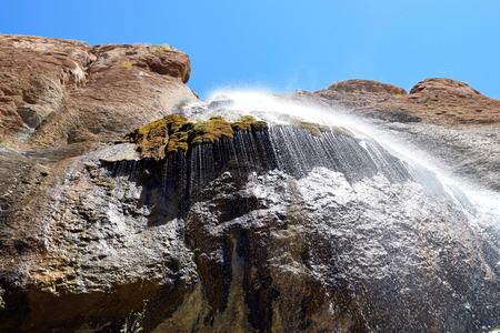 isfahan: Semirom Waterfall area, isfahan, iran
