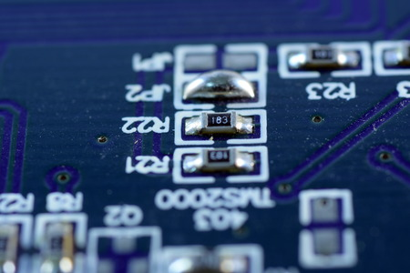 electronic board: Close up electronic board