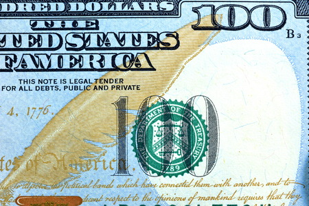 close up: Close up USD, Dollar note Stock Photo