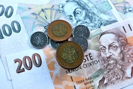korun: Close up Czech Koruna currency, Czech Republic