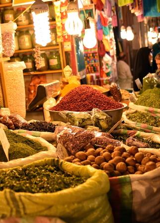 isfahan: Inside spice market at  Isfahan Grand Bazaar, Naqsh-e Jahan Square, esfahan, Iran