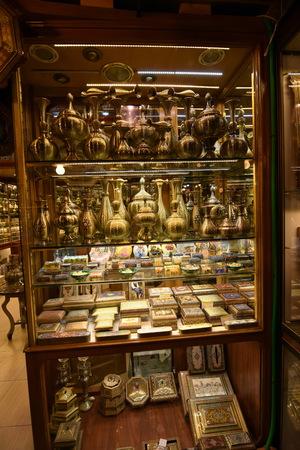bazaar: Inside Naqsh-e Jahan Square Bazaar,Esfahan, Iran Editorial