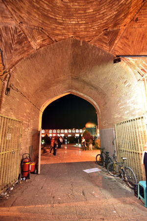 safavid: Inside Naqsh-e Jahan Square Bazaar,Esfahan, Iran Editorial