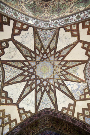 Fin, Kashan, Esfahan, Iran, March 23, 2017, is a historical Persian garden. It contains Kashans Fin Bath, where Amir Kabir, the Qajarid chancellor, was murdered by an assassin sent by King Nasereddin Shah in 1852.