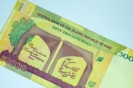 Close up Banknote and Currency Bills and Coins Stock Photo