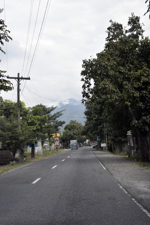MANILA, PHILIPPINES, DECEMBER 12, 2017, ROAD FROM MANILA TO BAGUIO CITY VIEW WITH CAR Editorial