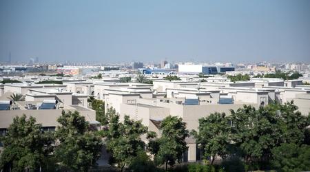 Villas in Dubai Silicon Oasis area in day from the Balcony
