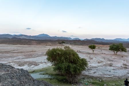 United Arab Emirates mountains view form Wadi Al Qor to Buraq Dam highest place around 800 meters Banco de Imagens