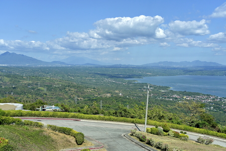 skyline view around Tagaytay city Hightland at the day, Philippines