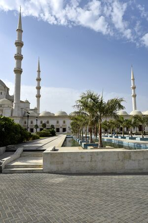 Grand Sheikh Zayed Mosque, Fujairah, United Arab Emirates, June 4, 2019. view of the mosque in the day