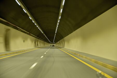 New Korfakan – Dubai, Sharjah road, Ras Al Khaimah – Fujairah, United Arab Emirates, June 4, 2019. Included many tunnels in the mountains Stock Photo