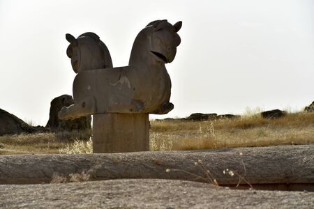 Persepolis, capital of the Achaemenid Empire, Shiraz, Fars, Iran, June 24, 2019, The Eagle Griffine at the Persepolis