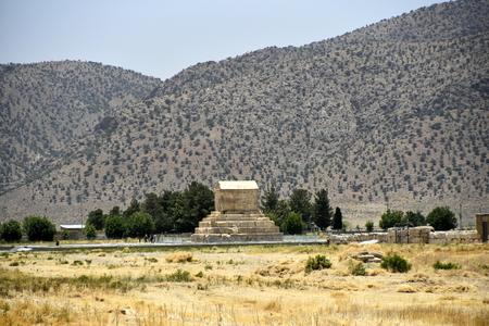 Pasargadae, Shiraz, Fars Province, Iran, June 22, 2019, Tomb of Cyrus the great at the day