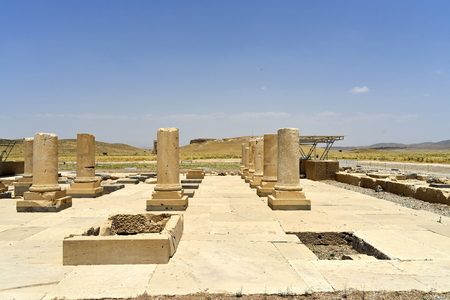 Pasargadae, Shiraz, Fars Province, Iran, June 22, 2019,The Private Palace, build to serve as the principal public palace for Cyrus and his court Editorial