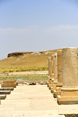Pasargadae, Shiraz, Fars Province, Iran, June 22, 2019,The Private Palace, build to serve as the principal public palace for Cyrus and his court Editoriali