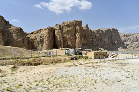 Naqsh-e Rostam, Shiraz, Fars Province, Iran, June 22, 2019, the view of Naqsh-e Rostam near the Shiraz City at the day 에디토리얼