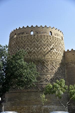 Arg of Karim Khan, Shiraz, Fars Province, Iran, June 23, 2019, outside view of Arg Karim Khan Zand