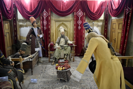 Arg of Karim Khan, Shiraz, Fars Province, Iran, June 23, 2019, The wax sculpture from Karim Khan Zand 에디토리얼