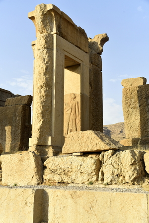 Persepolis, capital of the Achaemenid Empire, Shiraz, Fars, Iran, June 24, 2019, The Hadish and The Apadana palace at the Persepolis