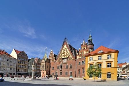wroclaw: Market square, Wroclaw, Poland Stock Photo