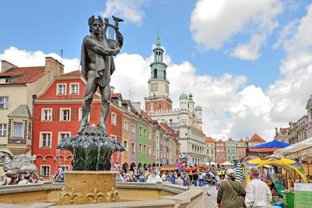 poznan: Market square, Poznan, Poland Editorial