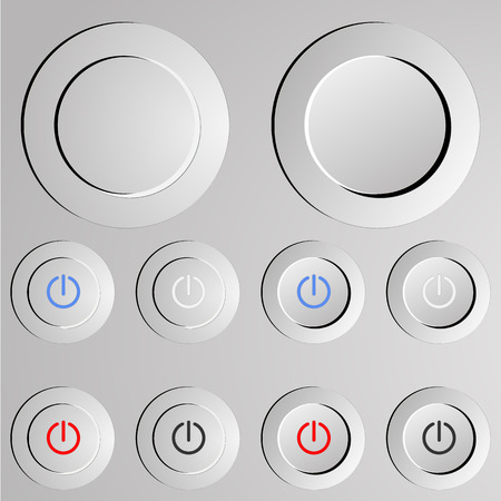 Metal switch button. on  off