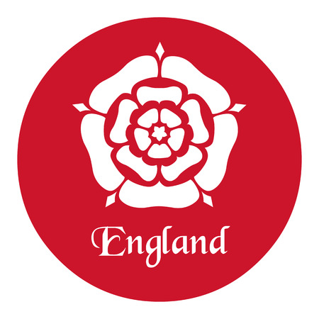 England emblem with the Tudor Rose on red Illustration